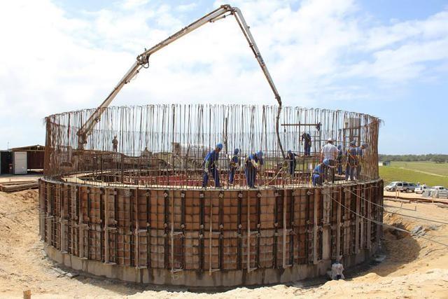 Execução de reservatório de concreto armado