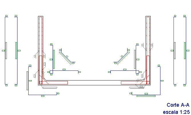 detalhamento de armadura de reservatório de concreto