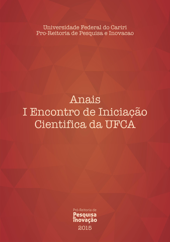 Anais do I Encontro de Iniciação Científica da UFCA thumbnail